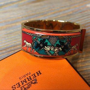 Hermès Big Cats Enamel Bracelet
